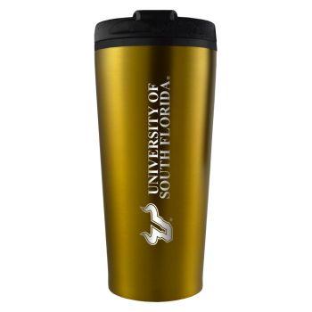 University of South Florida -16 oz. Travel Mug Tumbler-Gold