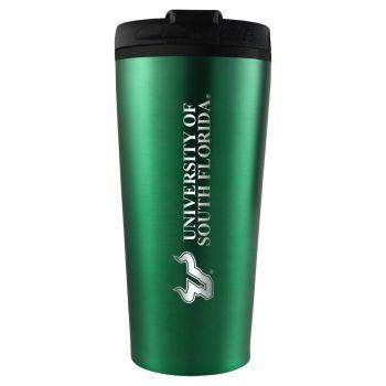 University of South Florida -16 oz. Travel Mug Tumbler-Green