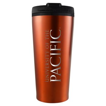 University of The Pacific -16 oz. Travel Mug Tumbler-Orange