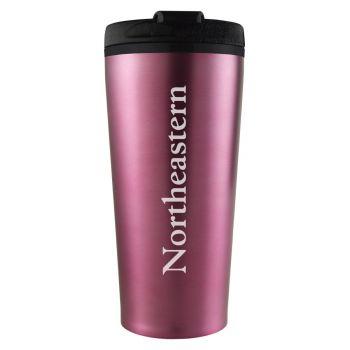 Northeastern University -16 oz. Travel Mug Tumbler-Pink
