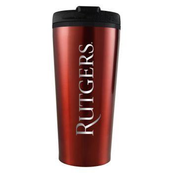 Rutgers University -16 oz. Travel Mug Tumbler-Red