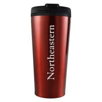 Northeastern University -16 oz. Travel Mug Tumbler-Red