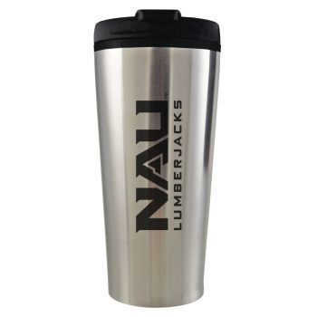 Northern Arizona University -16 oz. Travel Mug Tumbler-Silver