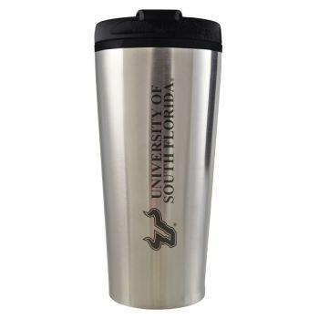 University of South Florida -16 oz. Travel Mug Tumbler-Silver