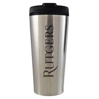 Rutgers University -16 oz. Travel Mug Tumbler-Silver