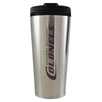 Eastern Kentucky University -16 oz. Travel Mug Tumbler-Silver