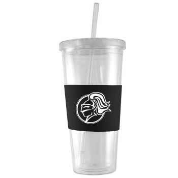 College of the Holy Cross-24 oz. Acrylic Tumbler- Engraved Silicone Sleeve-Black