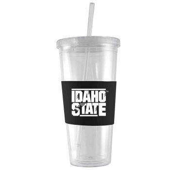 Idaho State University -24 oz. Acrylic Tumbler- Engraved Silicone Sleeve-Black