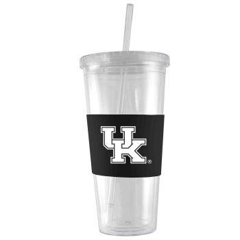 University of Kentucky-24 oz. Acrylic Tumbler- Engraved Silicone Sleeve-Black