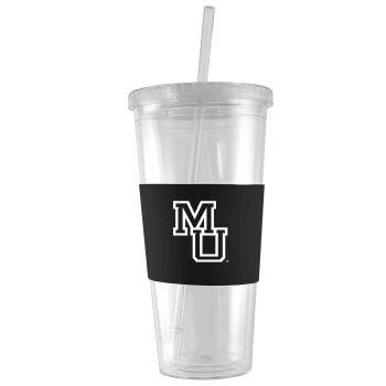 Mercer University-24 oz. Acrylic Tumbler- Engraved Silicone Sleeve-Black