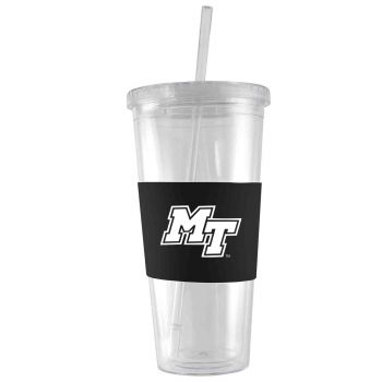 Middle Tennessee State University -24 oz. Acrylic Tumbler- Engraved Silicone Sleeve-Black