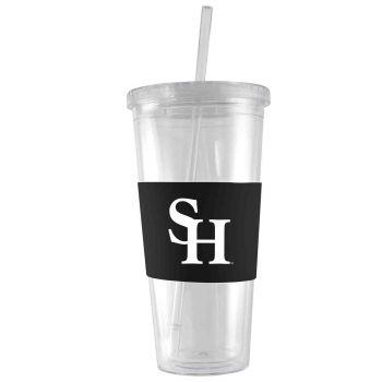 Sam Houston State University-24 oz. Acrylic Tumbler- Engraved Silicone Sleeve-Black