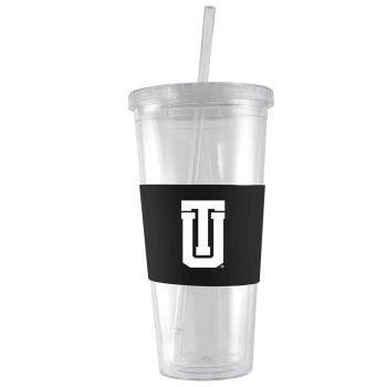 University of Tulsa-24 oz. Acrylic Tumbler- Engraved Silicone Sleeve-Black