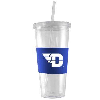 University of Dayton-24 oz. Acrylic Tumbler- Engraved Silicone Sleeve-Blue