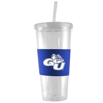 Gonzaga University -24 oz. Acrylic Tumbler- Engraved Silicone Sleeve-Blue