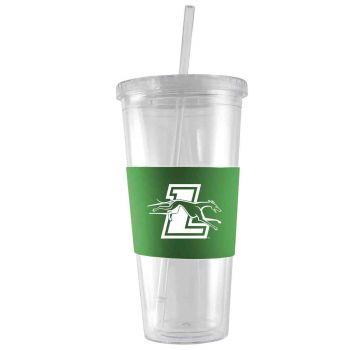 Loyola University Maryland-24 oz. Acrylic Tumbler- Engraved Silicone Sleeve-Green