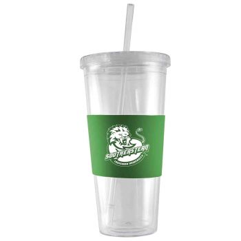 Southeastern Louisiana University-24 oz. Acrylic Tumbler- Engraved Silicone Sleeve-Green