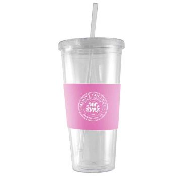 Marist College-24 oz. Acrylic Tumbler- Engraved Silicone Sleeve-Pink