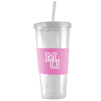 Mercer University-24 oz. Acrylic Tumbler- Engraved Silicone Sleeve-Pink