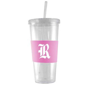 Rice University-24 oz. Acrylic Tumbler- Engraved Silicone Sleeve-Pink