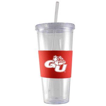 Gonzaga University -24 oz. Acrylic Tumbler- Engraved Silicone Sleeve-Red
