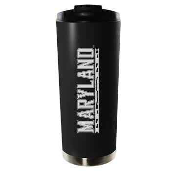 University of Maryland, College Park-16oz. Stainless Steel Vacuum Insulated Travel Mug Tumbler-Black
