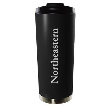 Northeastern University-16oz. Stainless Steel Vacuum Insulated Travel Mug Tumbler-Black