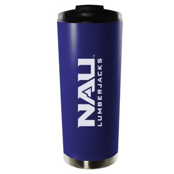 Northern Arizona University-16oz. Stainless Steel Vacuum Insulated Travel Mug Tumbler-Blue
