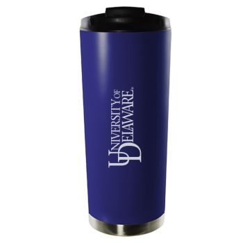University of Delaware-16oz. Stainless Steel Vacuum Insulated Travel Mug Tumbler-Blue