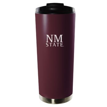 New Mexico State University-16oz. Stainless Steel Vacuum Insulated Travel Mug Tumbler-Burgundy