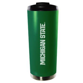 Michigan State University-16oz. Stainless Steel Vacuum Insulated Travel Mug Tumbler-Green