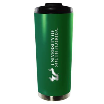 University of South Florida-16oz. Stainless Steel Vacuum Insulated Travel Mug Tumbler-Green