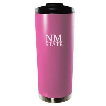 New Mexico State University-16oz. Stainless Steel Vacuum Insulated Travel Mug Tumbler-Pink