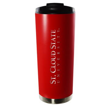 St. Cloud State University-16oz. Stainless Steel Vacuum Insulated Travel Mug Tumbler-Red