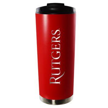 Rutgers University-16oz. Stainless Steel Vacuum Insulated Travel Mug Tumbler-Red
