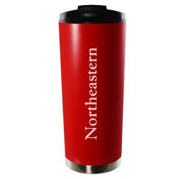 Northeastern University-16oz. Stainless Steel Vacuum Insulated Travel Mug Tumbler-Red