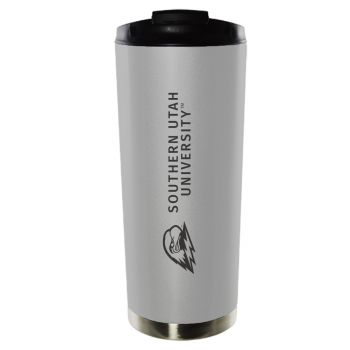 Southern Utah University-16oz. Stainless Steel Vacuum Insulated Travel Mug Tumbler-Silver