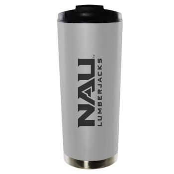 Northern Arizona University-16oz. Stainless Steel Vacuum Insulated Travel Mug Tumbler-Silver