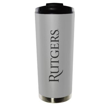 Rutgers University-16oz. Stainless Steel Vacuum Insulated Travel Mug Tumbler-Silver