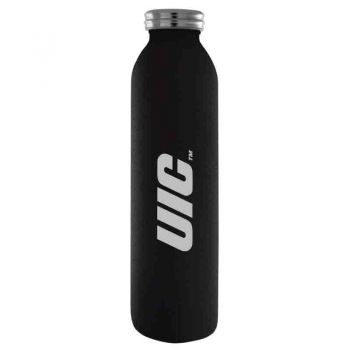 University of Illinois at Chicago-Vaccum Insulated Water Bottle Tumbler-20 oz.-Black