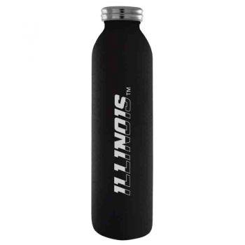 University of Illinois -Vaccum Insulated Water Bottle Tumbler-20 oz.-Black