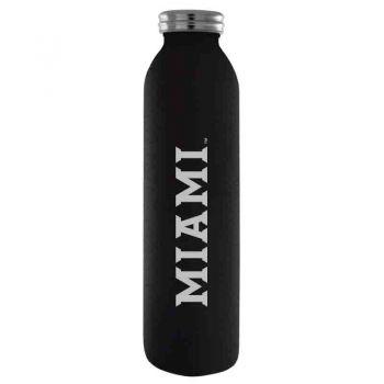 Miami University-Vaccum Insulated Water Bottle Tumbler-20 oz.-Black