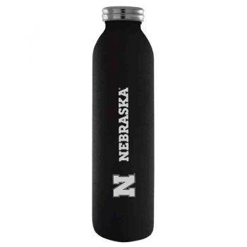 University of Nebraska-Vaccum Insulated Water Bottle Tumbler-20 oz.-Black