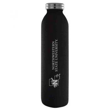 Northwestern State University-Vaccum Insulated Water Bottle Tumbler-20 oz.-Black