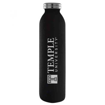 Temple University-Vaccum Insulated Water Bottle Tumbler-20 oz.-Black