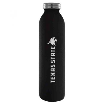 Texas State University-Vaccum Insulated Water Bottle Tumbler-20 oz.-Black