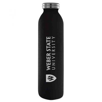 Weber State University -Vaccum Insulated Water Bottle Tumbler-20 oz.-Black