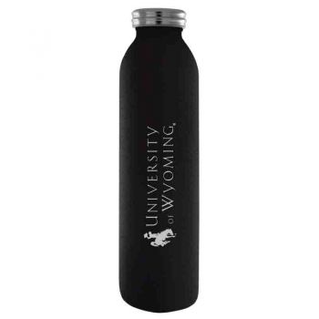 University of Wyoming-Vaccum Insulated Water Bottle Tumbler-20 oz.-Black