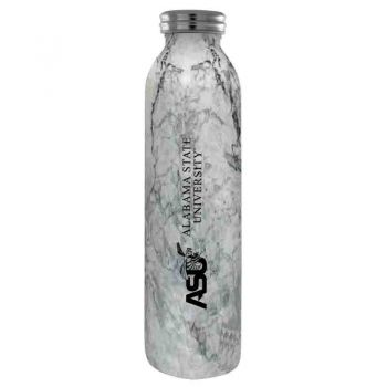 Alabama State University -Vaccum Insulated Water Bottle Tumbler-20 oz.-Marble