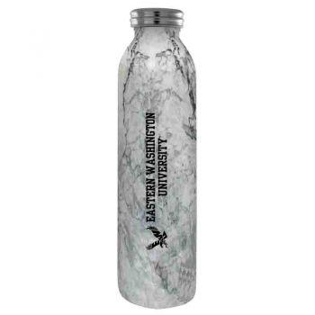 Eastern Washington University -Vaccum Insulated Water Bottle Tumbler-20 oz.-Marble